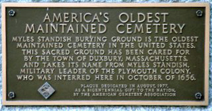 Myles Standish Burial Grounds (Duxbury, MA)